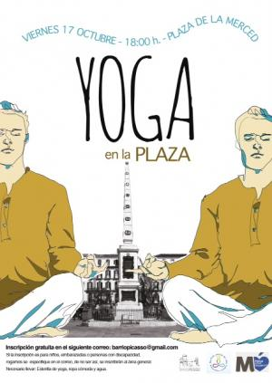 Yoga en la Plaza de la Merced (Málaga)